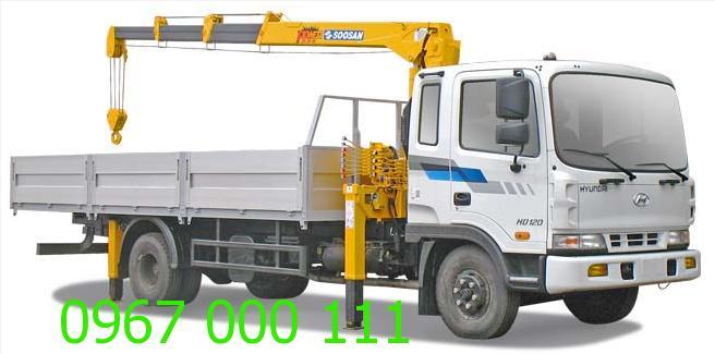 Cho thuê xe cẩu 2 tấn, 3 tấn
