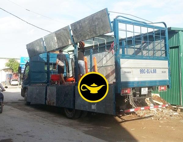 Cho thuê xe tải dọn kho chuyển hàng nhanh giá rẻ