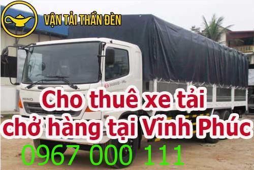 Cho thuê xe tải chở hàng tại Vĩnh Phúc