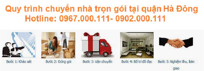 Quy trình chuyển nhà trọn gói tại Hà Đông