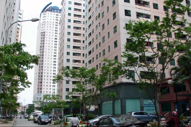 Khu chung cư, những tòa nhà cao ốc