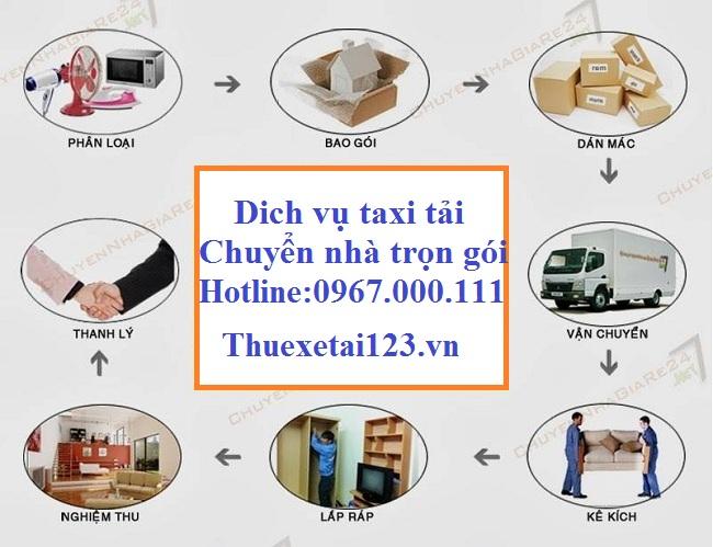 Quy trình dịch vụ taxi tải chuyển nhà trọn gói