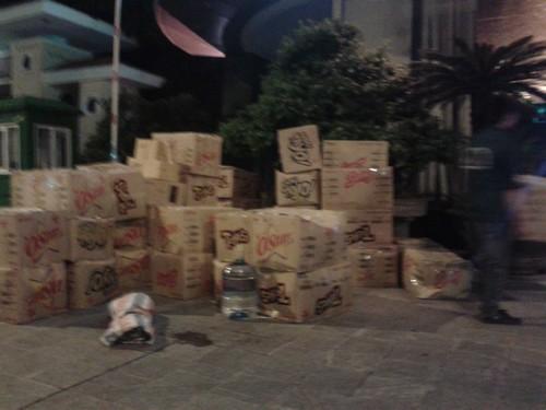 Chuyển nhà  vào ban đêm đường phố rộng rãi