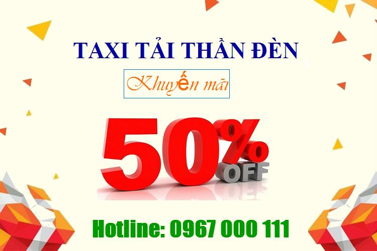 Taxi tải Thần Đèn khuyến mãi 50%