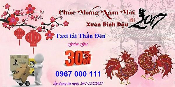 Taxi tải Thần Đèn giảm giá 30% tất cả dịch vụ