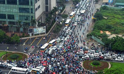 Ùn tắc giao thông tại thủ đô