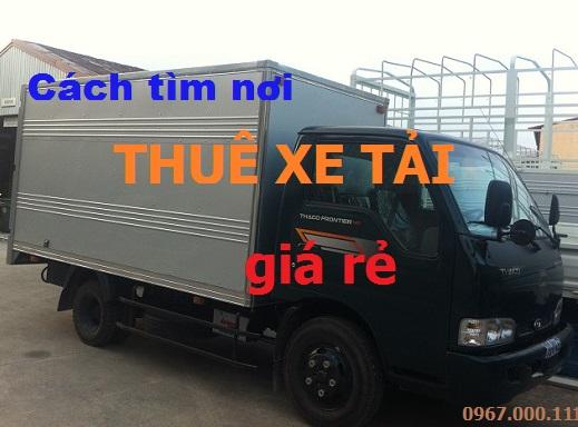 Cách tìm thuê xe tải giá rẻ tiết kiệm chi phí